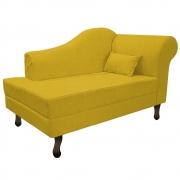 Recamier Rafaela 140cm Lado Esquerdo Suede Amarelo - Doce Sonho Móveis