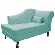 Recamier Rafaela 140cm Lado Esquerdo Suede Azul Tiffany- Doce Sonho Móveis