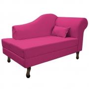 Recamier Rafaela 140cm Lado Esquerdo Suede Pink - Doce Sonho Móveis