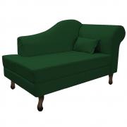 Recamier Rafaela 140cm Lado Esquerdo Suede Verde - Doce Sonho Móveis