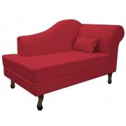 Recamier Rafaela 140cm Lado Esquerdo Suede Vermelho - Doce Sonho Móveis