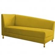 Recamier Valéria 140cm Lado Direito Suede Amarelo - Doce Sonho Móveis