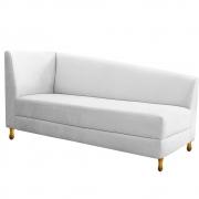 Recamier Valéria 140cm Lado Direito Suede Branco - Doce Sonho Móveis