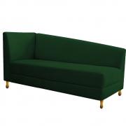 Recamier Valéria 140cm Lado Direito Suede Verde - Doce Sonho Móveis