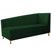 Recamier Valéria 140cm Lado Esquerdo Suede Verde - Doce Sonho Móveis