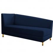 Recamier Valéria 160cm Lado Direito Suede Azul Marinho - Doce Sonho Móveis
