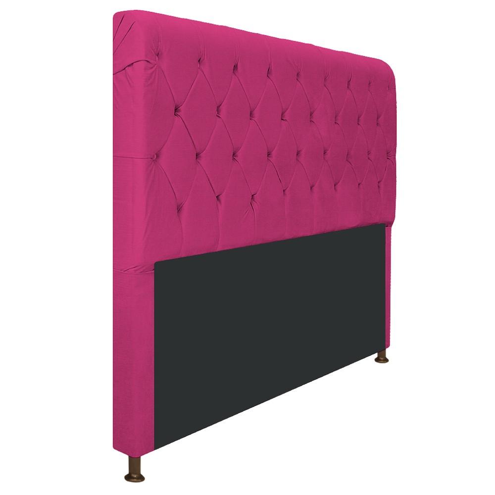 Cabeceira Estofada Cristal 160 cm Queen Size Com Capitonê Suede Pink - Doce Sonho Móveis