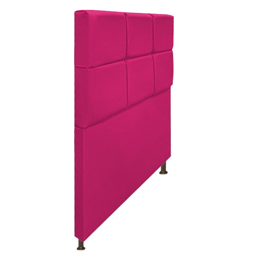 Cabeceira Estofada Damares 100 cm Solteiro Com Botonê Suede Pink - Doce Sonho Móveis