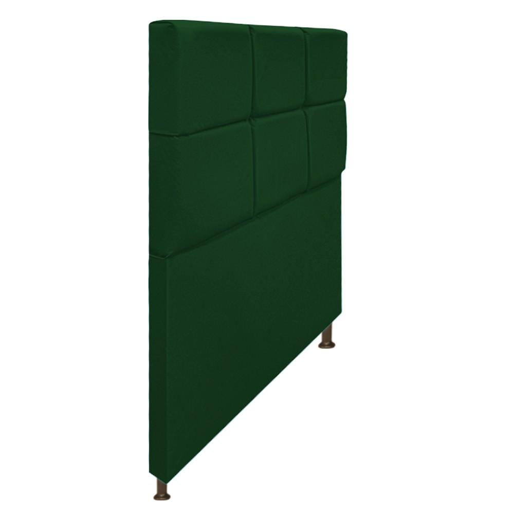 Cabeceira Estofada Damares 100 cm Solteiro Com Botonê Suede Verde - Doce Sonho Móveis