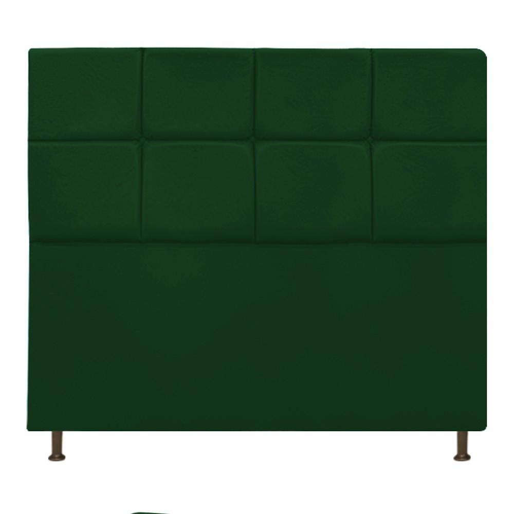 Cabeceira Estofada Damares 160 cm Queen Size Com Botonê Suede Verde - Doce Sonho Móveis