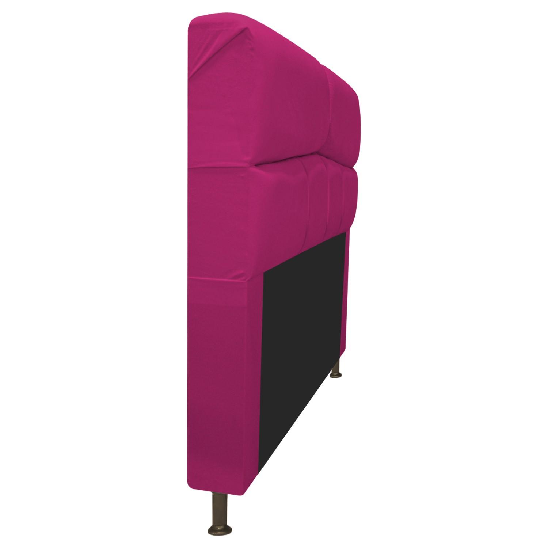 Cabeceira Estofada Donna 140 cm Casal  Suede Pink - Doce Sonho Móveis