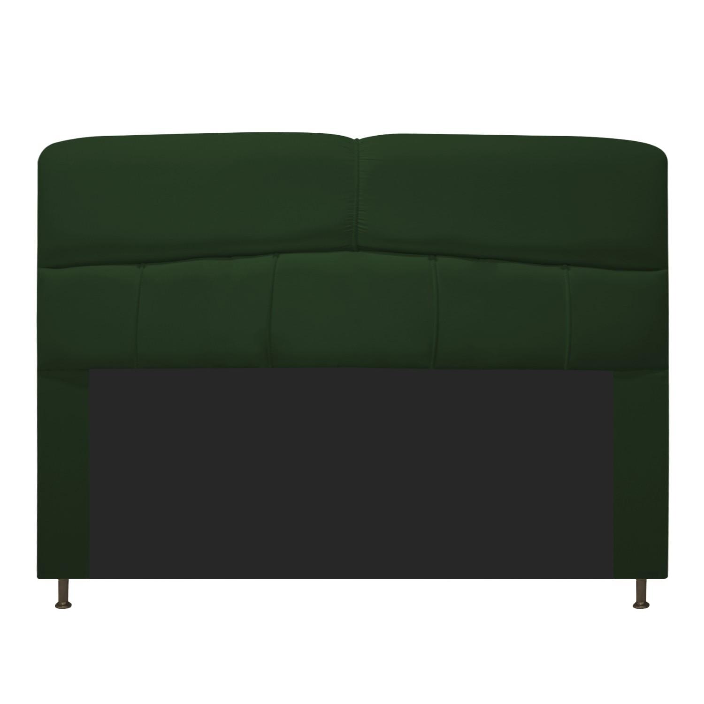 Cabeceira Estofada Donna 140 cm Casal  Suede Verde - Doce Sonho Móveis