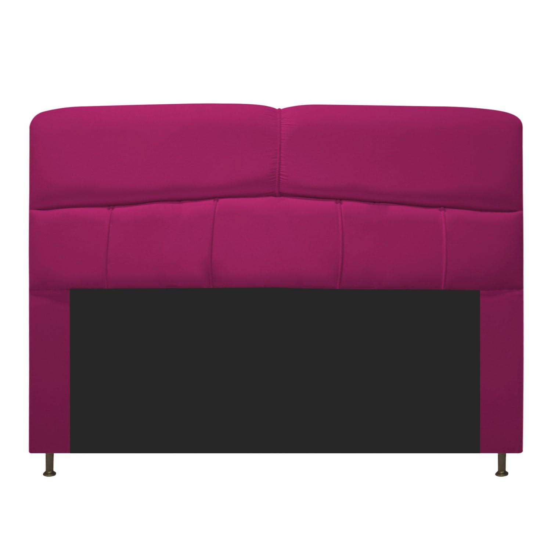 Cabeceira Estofada Donna 160 cm Queen Size Suede Pink - Doce Sonho Móveis
