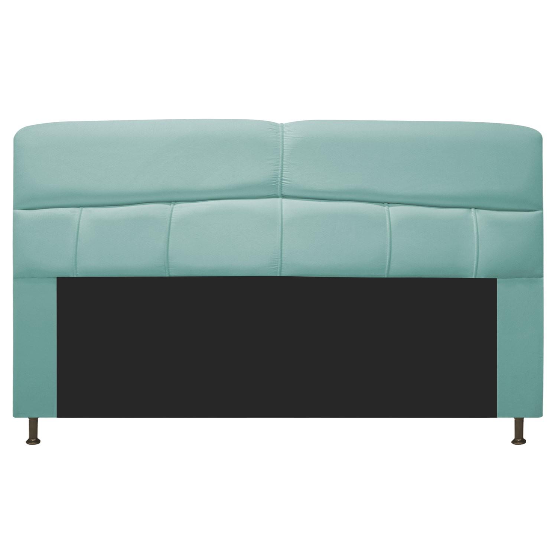 Cabeceira Estofada Donna 195 cm King Size Suede Azul Tiffany - Doce Sonho Móveis