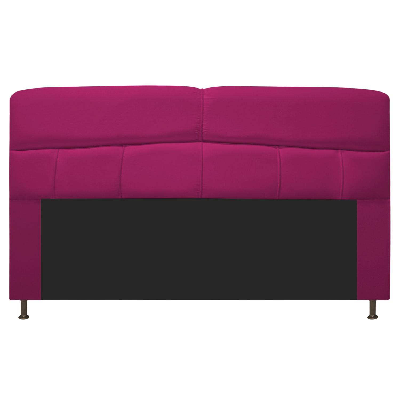 Cabeceira Estofada Donna 195 cm King Size Suede Pink - Doce Sonho Móveis