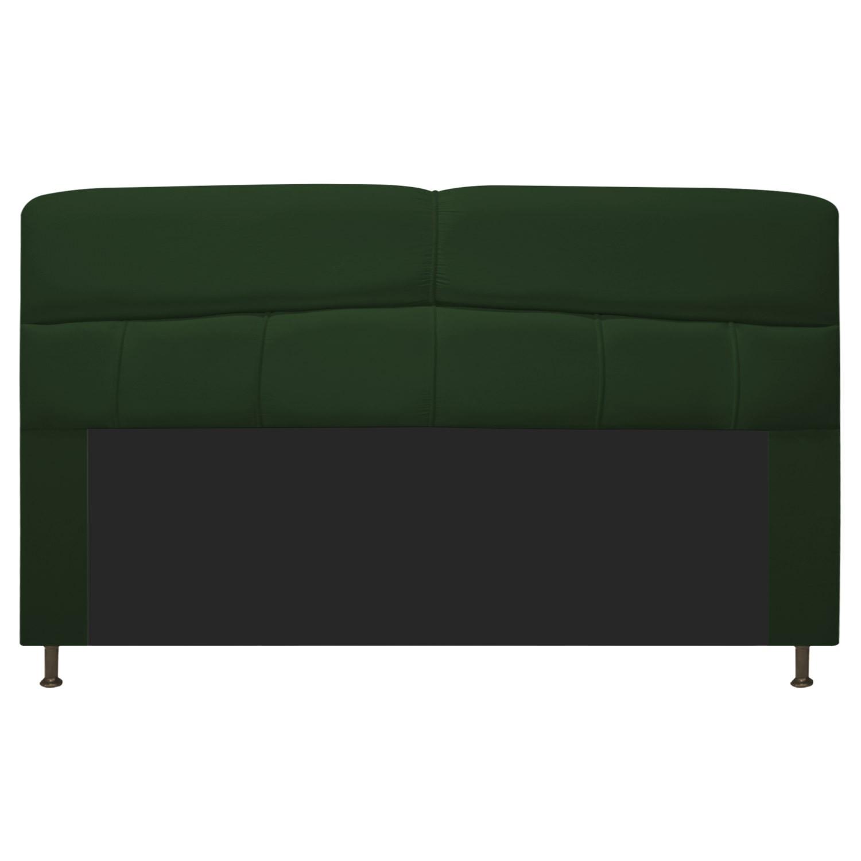 Cabeceira Estofada Donna 195 cm King Size Suede Verde - Doce Sonho Móveis