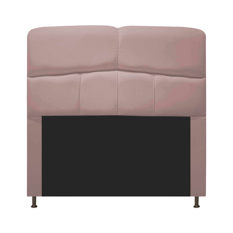 Cabeceira Estofada Donna 90 cm Solteiro  Suede Rosê - Doce Sonho Móveis