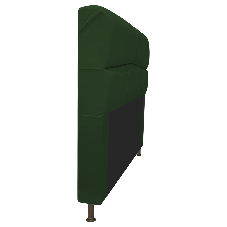 Cabeceira Estofada Donna 90 cm Solteiro  Suede Verde - Doce Sonho Móveis