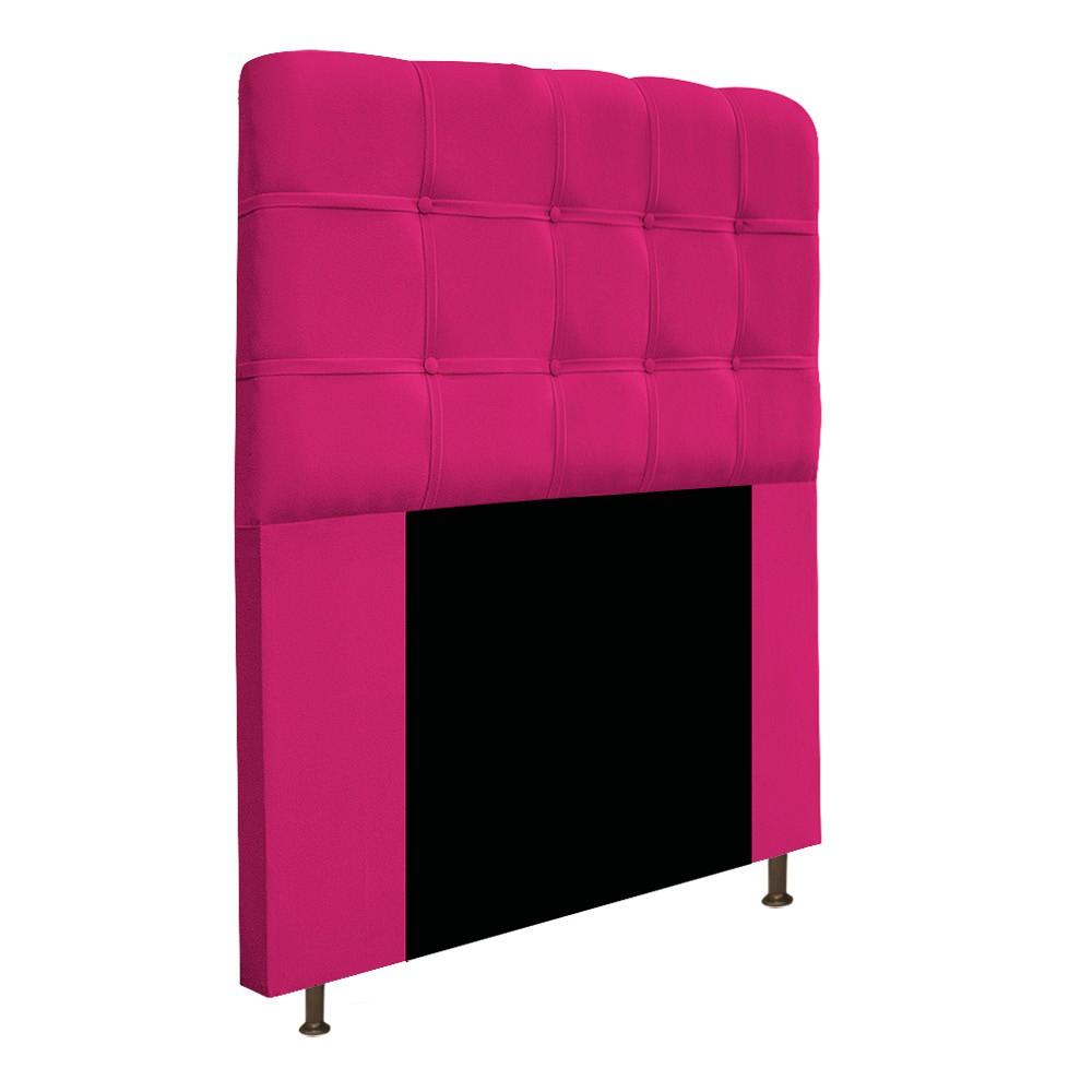Cabeceira Estofada Mel 100 cm Solteiro Com Botonê Suede Pink - Doce Sonho Móveis