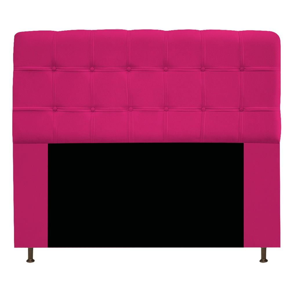 Cabeceira Estofada Mel 140 cm Casal Com Botonê  Suede Pink - Doce Sonho Móveis