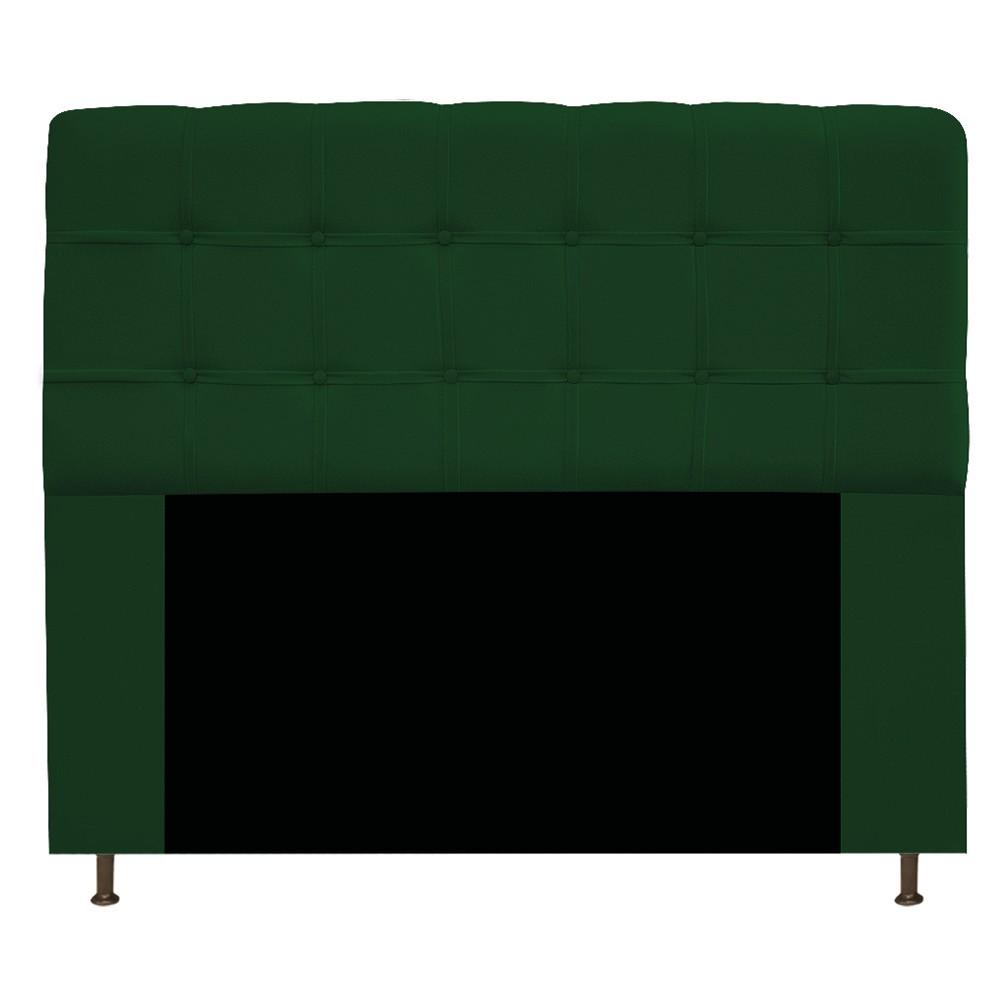 Cabeceira Estofada Mel 140 cm Casal Com Botonê  Suede Verde - Doce Sonho Móveis