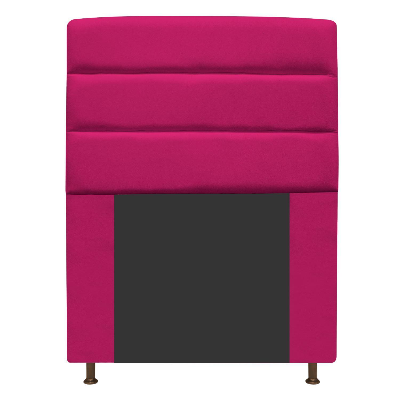 Cabeceira Estofada Turim 100 cm Solteiro Suede Pink - Doce Sonho Móveis