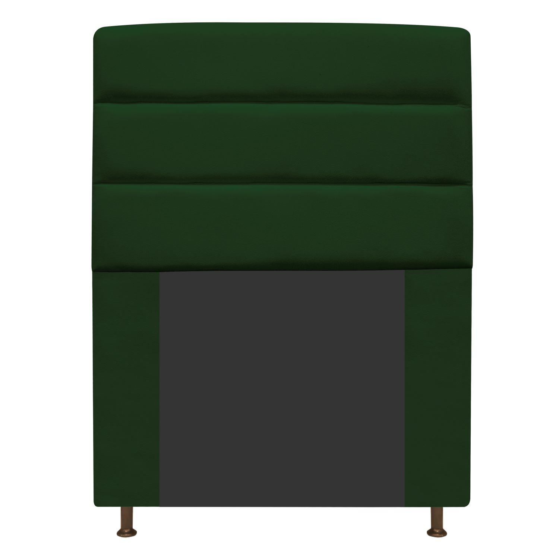 Cabeceira Estofada Turim 100 cm Solteiro Suede Verde - Doce Sonho Móveis