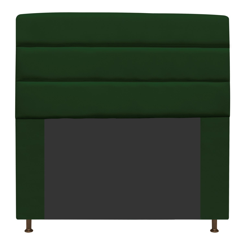 Cabeceira Estofada Turim 140 cm Casal  Suede Verde - Doce Sonho Móveis