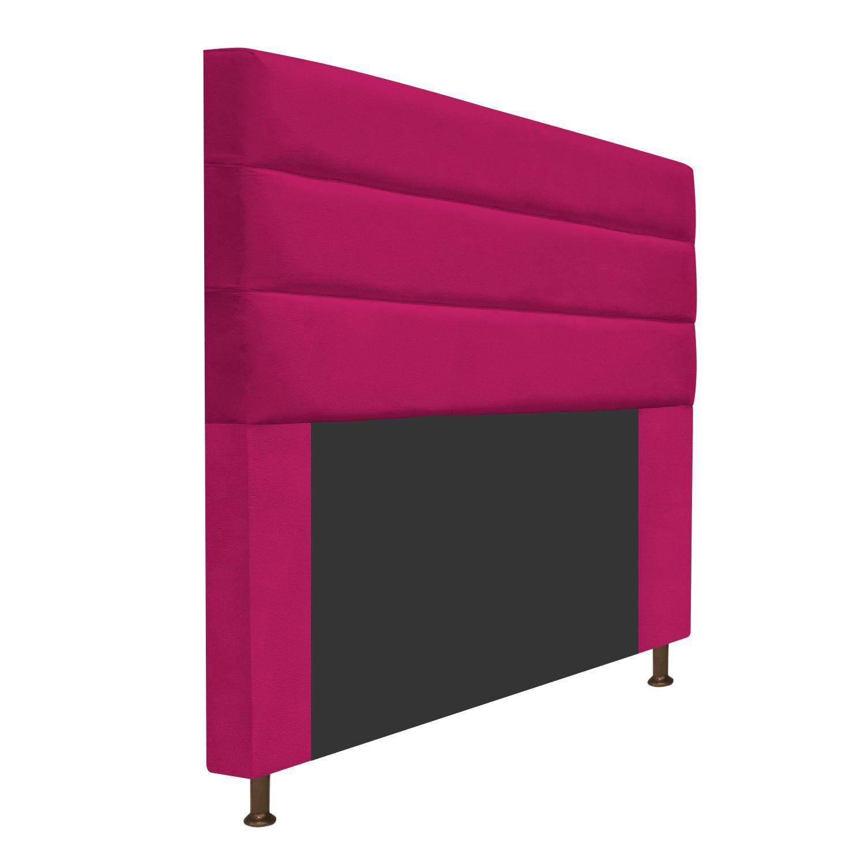Cabeceira Estofada Turim 160 cm Queen Size Suede Pink - Doce Sonho Móveis