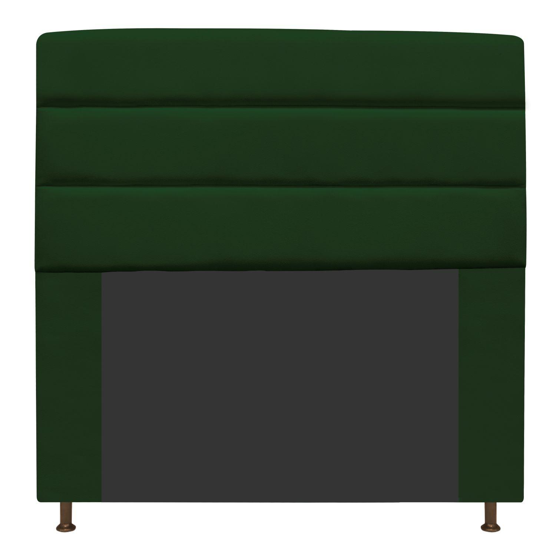 Cabeceira Estofada Turim 160 cm Queen Size Suede Verde - Doce Sonho Móveis