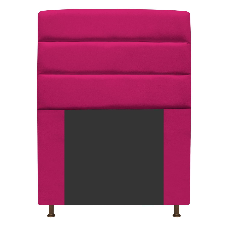 Cabeceira Estofada Turim 90 cm Solteiro  Suede Pink - Doce Sonho Móveis