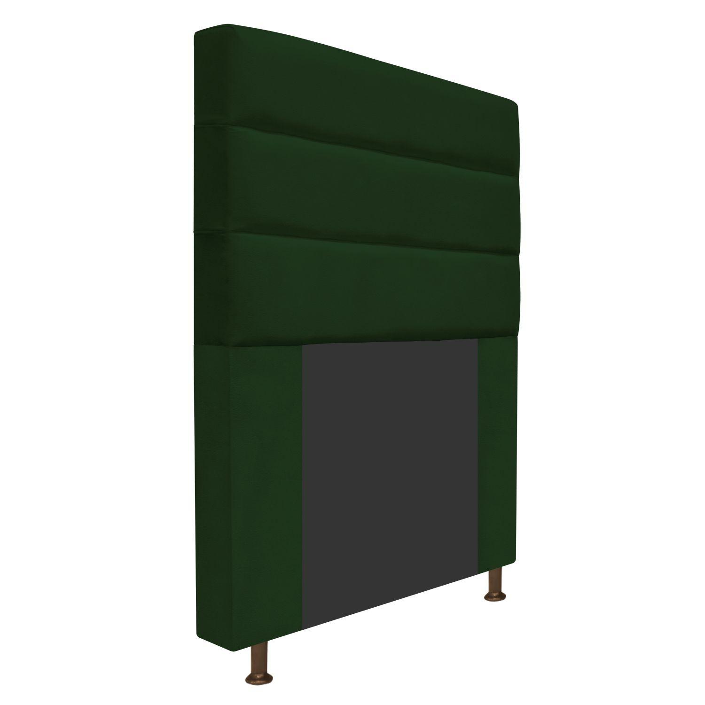 Cabeceira Estofada Turim 90 cm Solteiro  Suede Verde - Doce Sonho Móveis