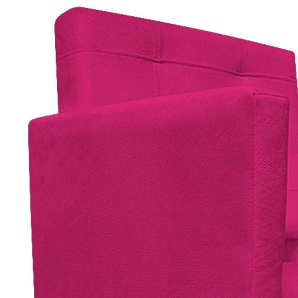 kit 02 Poltronas Gênesis Palito Tabaco Suede Pink - Doce Sonho Móveis