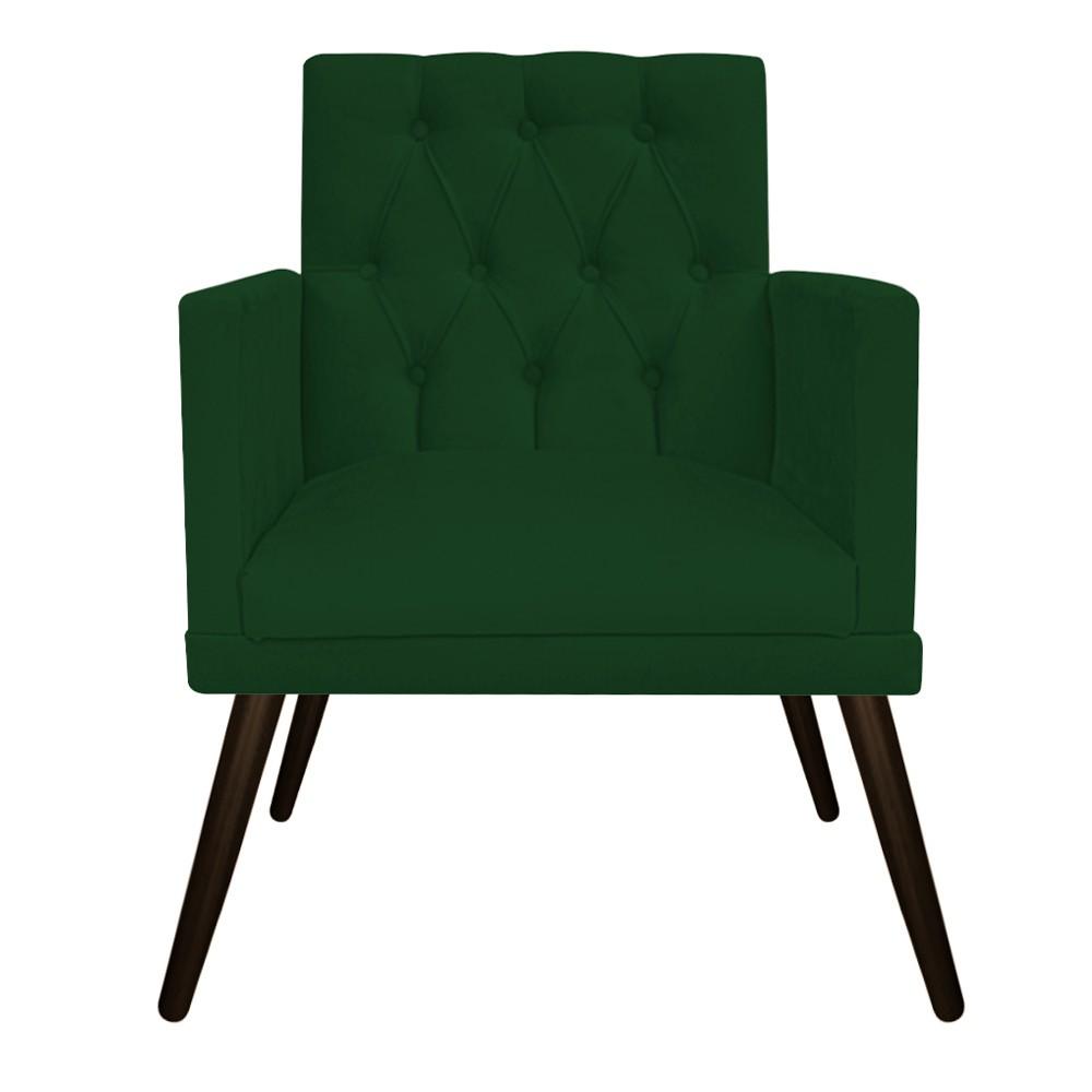 kit 03 Poltronas Fernanda Palito Tabaco Suede Verde - Doce Sonho Móveis