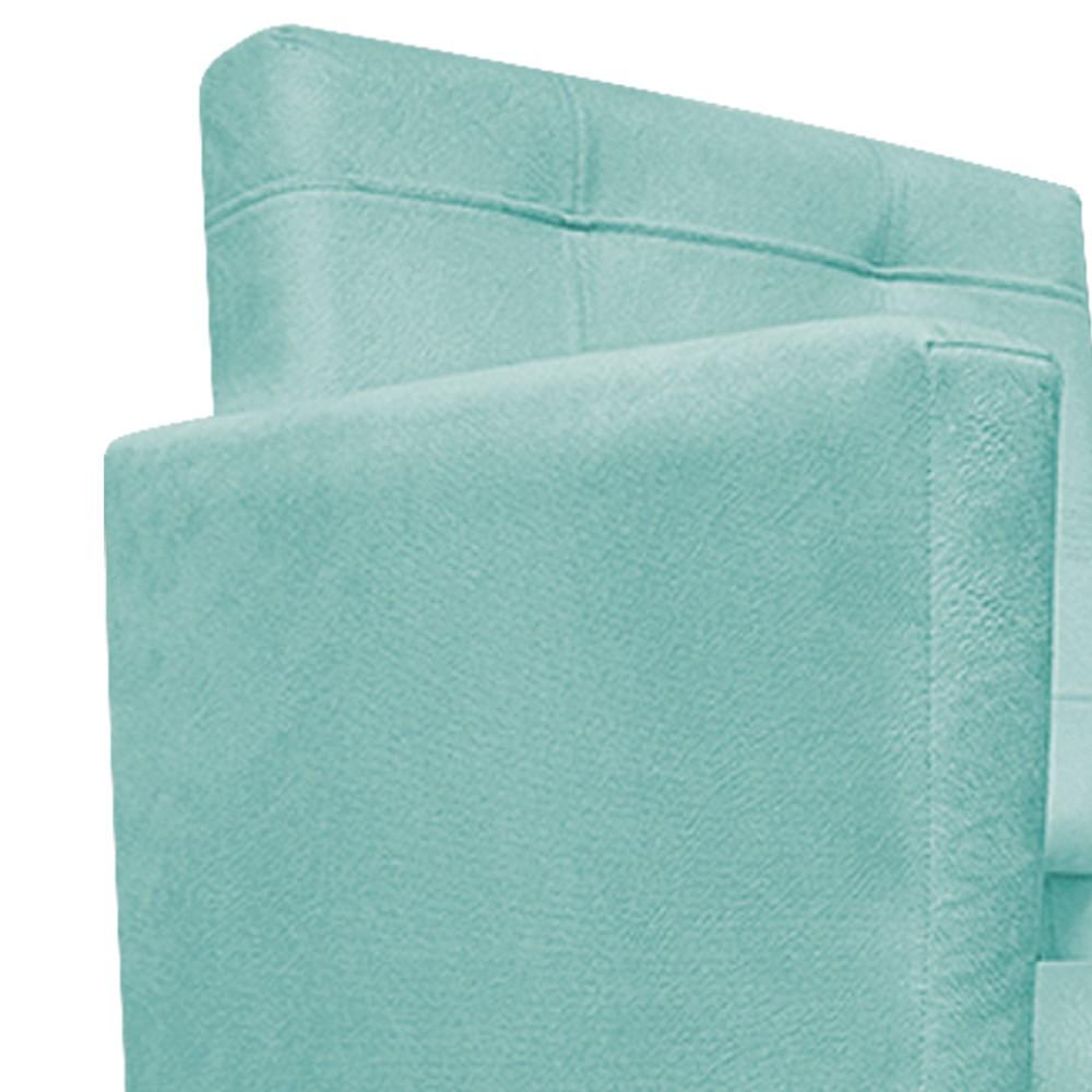 kit 03 Poltronas Gênesis Palito Tabaco Suede Azul Tiffany - Doce Sonho Móveis