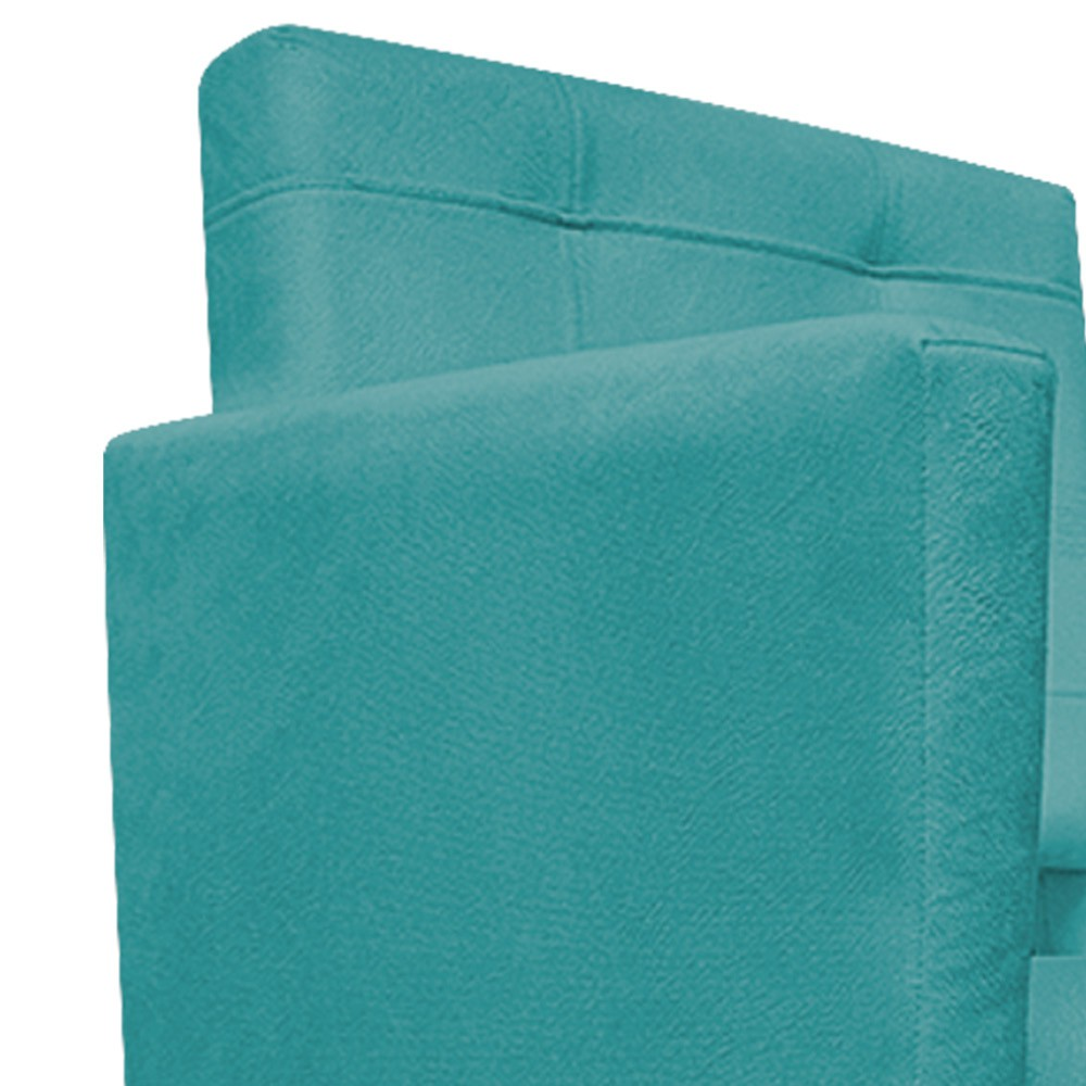 kit 03 Poltronas Gênesis Palito Tabaco Suede Azul Turquesa - Doce Sonho Móveis
