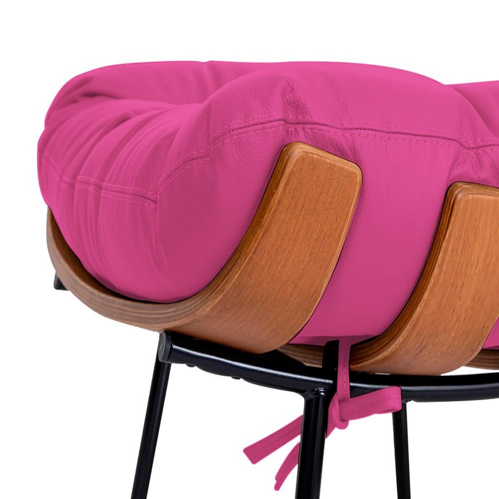 Poltrona Decorativa Costela Base Fixa Corano Pink - Doce Sonho Móveis