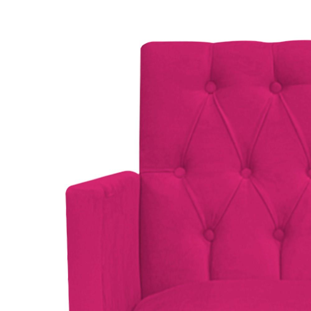 Poltrona Fernanda Pés Palito Mel Suede Pink - Doce Sonho Móveis