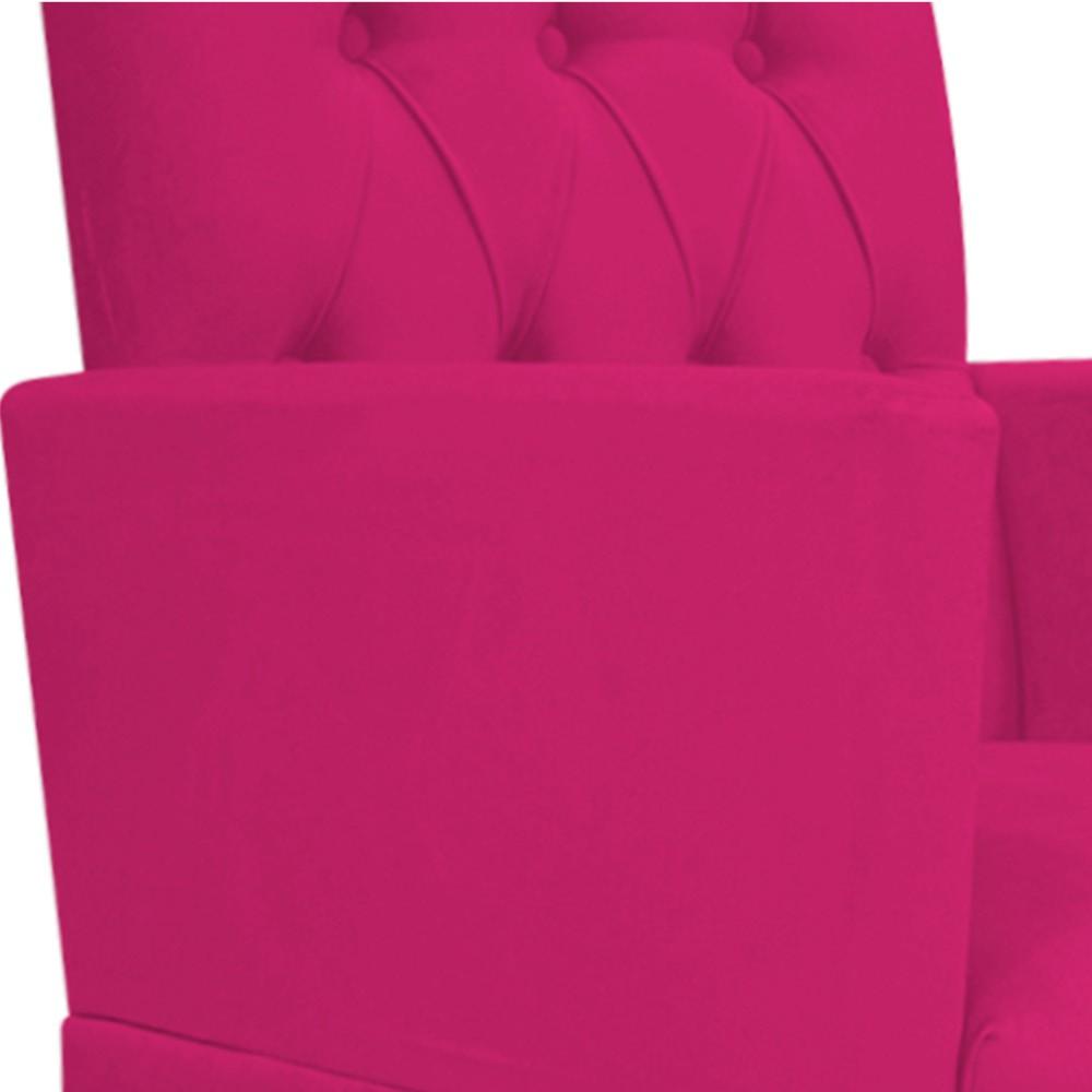 Poltrona Fernanda Pés Palito Tabaco Suede Pink - Doce Sonho Móveis