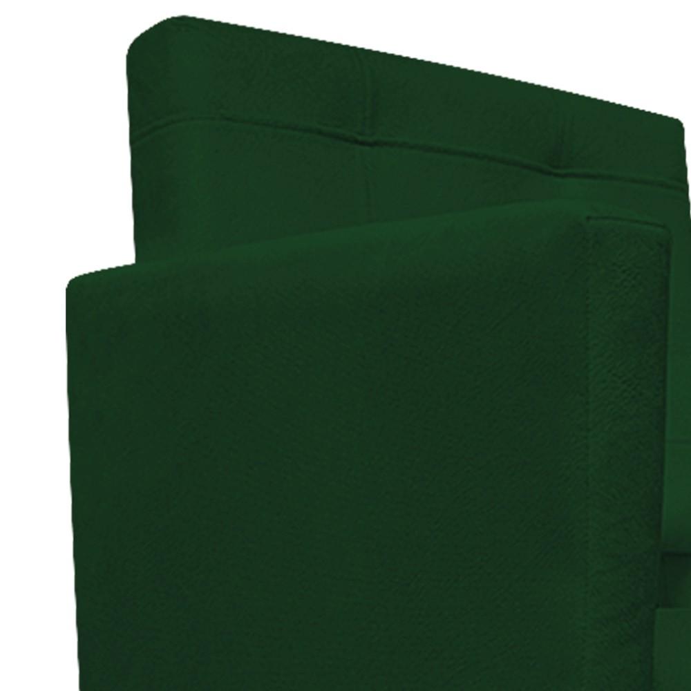 Poltrona Gênesis Pés Palito Tabaco Suede Verde - Doce Sonho Móveis