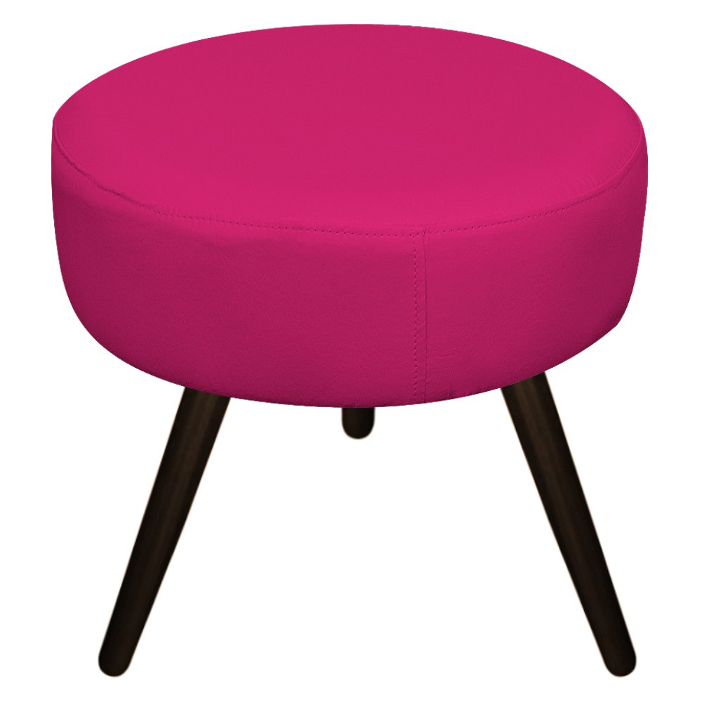 Puff Sofia Palito Tabaco Suede Pink - Doce Sonho Móveis