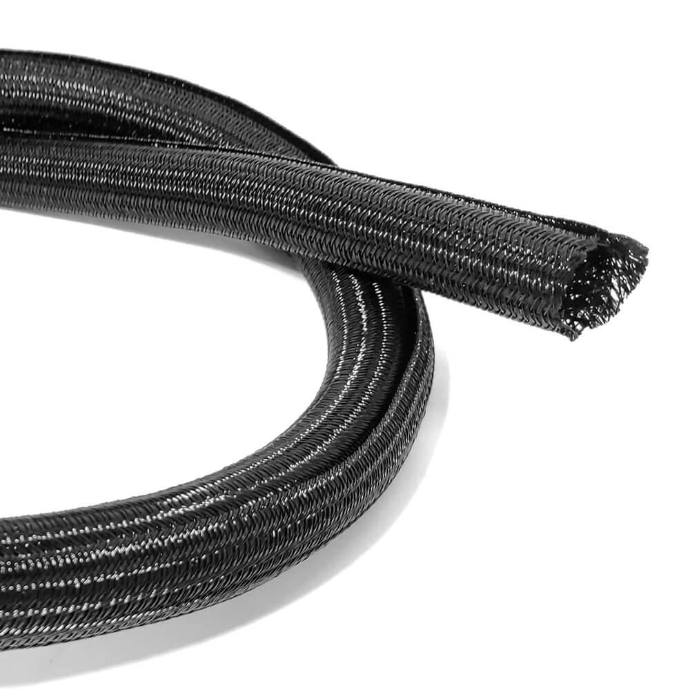 16 mm Preto - Malha de Autofechamento Expansiva (1m)