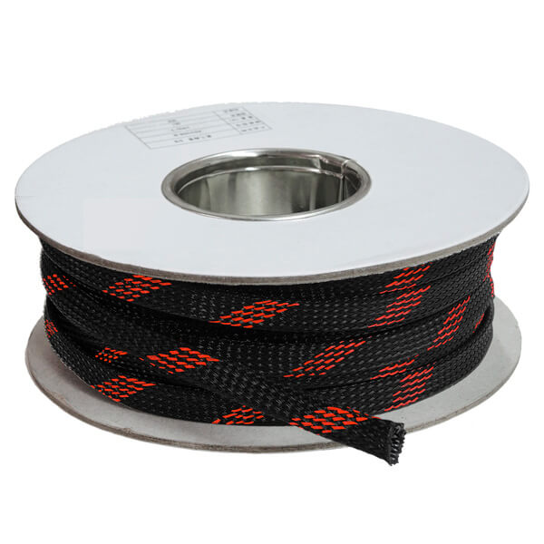 16 mm Preto/vermelho - Malha Náutica Expansiva (25m)