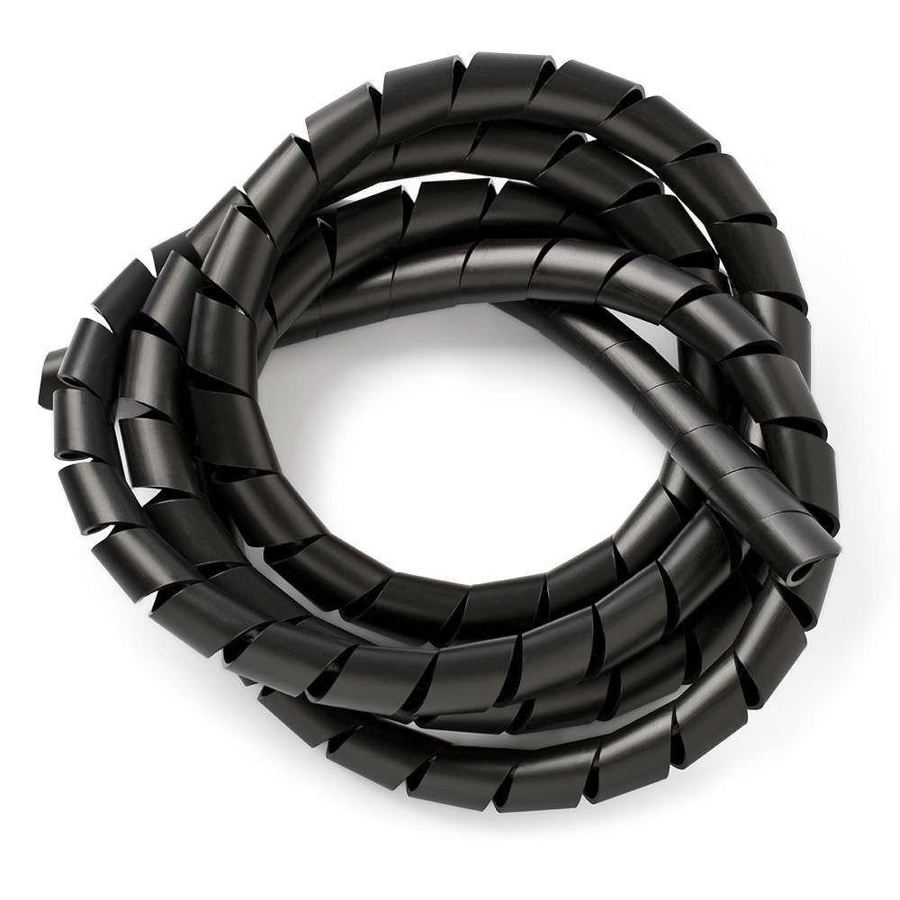 19,1 mm (3/4 pol) Preto Espiral Organizador Cabos (1m)