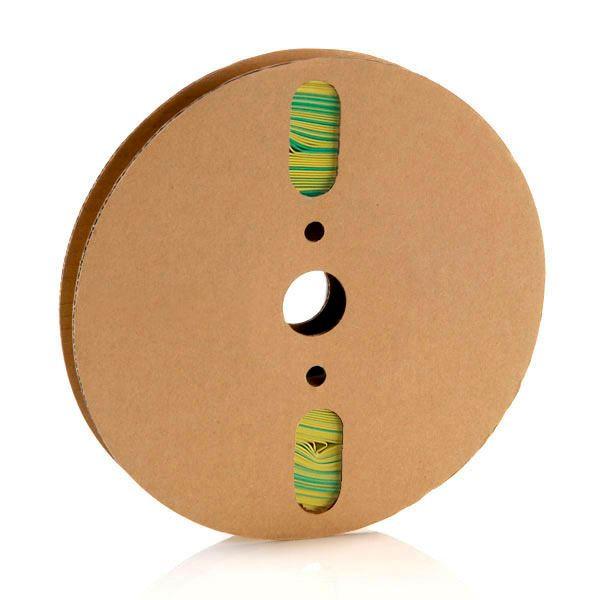 19,1 mm Verde/amarelo Termo Retrátil Padrão (25m)