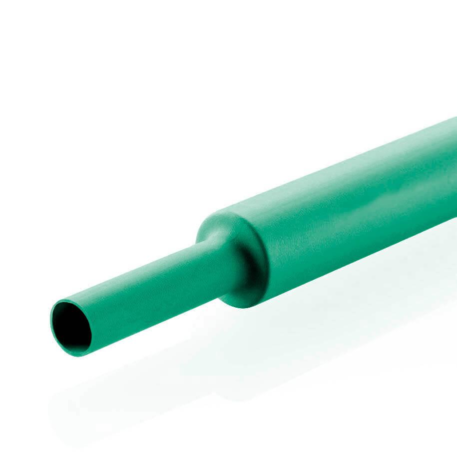 19,1 mm Verde Termo Retrátil Padrão (1m)