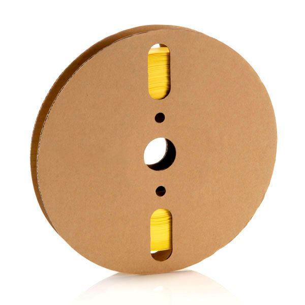 1,2 mm amarelo gravado termo retrátil padrão (25m)