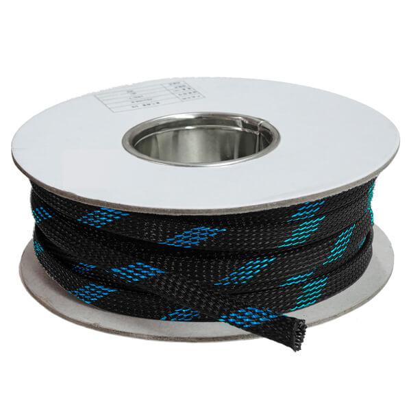 20 mm Preto/azul - Malha Náutica Expansiva (25m)