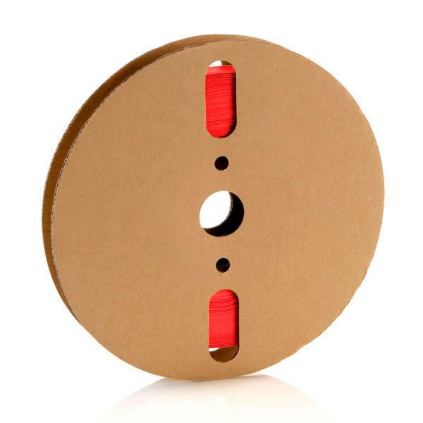 25,4 mm Vermelho Termo Retrátil Padrão (25m)