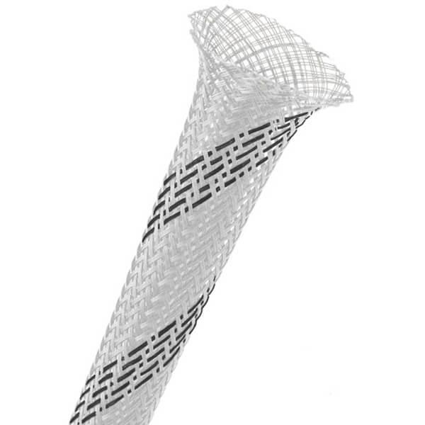 25 mm Branca/preta Malha Náutica Expansiva Fina (25m)